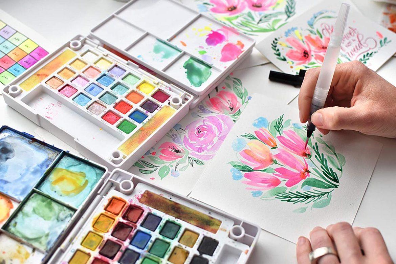 水彩在不同紙質上的效果